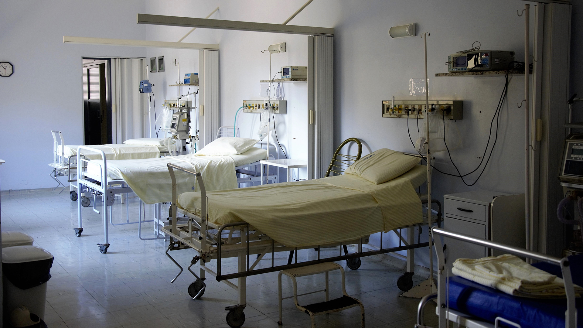 Clinic with empty beds